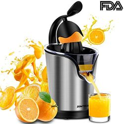 Electric Citrus Juicer Sowtech 2 in 1 Stainless Steel Squeezer Anti-drip Citrus Press for Squeez ...