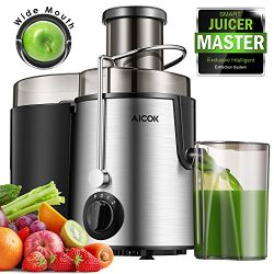 Aicok Juicer Centrifugal Juicer Wide Mouth Three Speed Juicer Machine, BPA Free Stainless Steel  ...