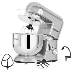 CHEFTRONIC Stand Mixer 650W/120V Tilt-Head Electric kitchen Mixer with 5.5QT Stainless Bowl, Wir ...