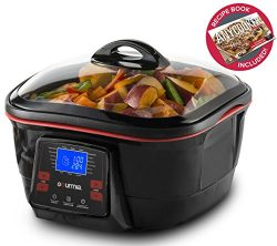 Gourmia GMC780 18 in 1 Multi Cooker With LCD Display – Deep Fry, Steam, Bake, Roast, Saute ...