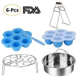 Instant Pot Accessories Set-Fits 5,6,8Qt Instant Pot Pressure Cooker,6 Pcs with Silicone Egg Bit ...