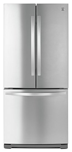 Kenmore 19.5 cu. ft. Non-Dispense French Door Bottom-Freezer Refrigerator in Stainless Steel, in ...
