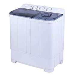 BOCCA Portable Washing Machine, with Electric Drain Pump,Mini Twin Tub Washer and Dryer Combo 24 ...