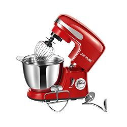 Stand Mixer CHEFTRONIC SM-928 350W Kitchen Mixer 4.2qt Stainless Bowl 6 Speed Electric Mixer wit ...