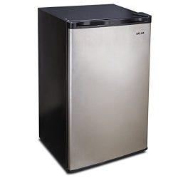 Della 3.2 cu ft Freestanding Mini Refrigerator Freezer Dorm Compact Small Fridge Single Reversib ...