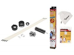 Gardus RLE202 LintEater 10- Piece Rotary Dryer Vent Cleaning System and R2303613 LintCatcher Bag ...