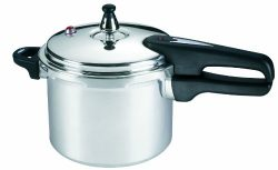 Mirro 92140A Polished Aluminum 10-PSI Pressure Cooker Cookware, 4-Quart, Silver