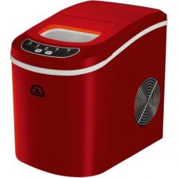Igloo Portable Countertop Ice Maker, Dark Red, Ice maker produces up to 26 lbs of ice in 24 hours