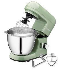 CHEFTRONIC Stand Mixer SM-985, 350W Tilt-head Compact Kitchen Electric Mixer 4.2 Quart Stainless ...