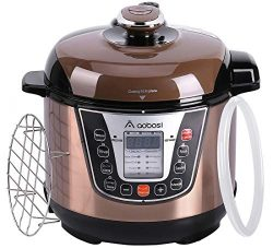 Aobosi Pressure Cooker 3Qt 8-in-1 Electric Multi-cooker, Rice Cooker,Slow Cooker,Perfect for Sma ...