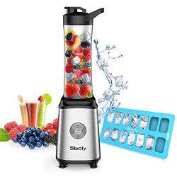 Personal Blender, Sboly Smoothie Blender Single Serve Small Blender for Juice Shakes and Smoothi ...