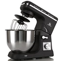 MURENKING Stand Mixer MK36 500W 6-Speed 5-Quart Stainless Steel Bowl, Tilt-Head Kitchen Electric ...
