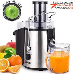 MUELLER Juicer Ultra 1100W Power, Easy Clean Juice Extractor Press Centrifugal Juicer Machine, W ...