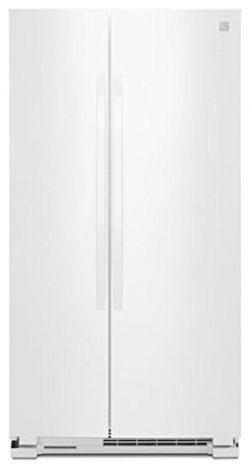 Kenmore 41172 25 cu. ft. Side-by-Side Refrigerator in White, includes delivery and hookup (Avail ...