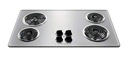 Frigidaire Stainless Steel 36″ 36 Inch Coil Top Electric Cooktop Stovetop FFEC3605LS