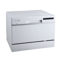 EdgeStar DWP62WH 6 Place Setting Energy Star Rated Portable Countertop Dishwasher – White