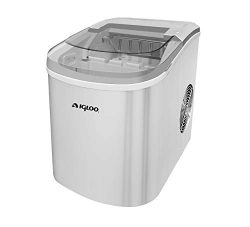 Igloo ICE206 Counter Top Compact Ice Maker, Silver, with See-through Lid (Certified Refurbished)
