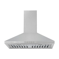 Zuhne Ventus 30 inch Range Hood With Chimney Extension for 9′ – 11′ Feet Ceiling