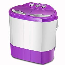 4-EVER Portable Mini Compact Washing Machine Twin Tub Washer and Dryer Combo Ideal For Dorms Apa ...