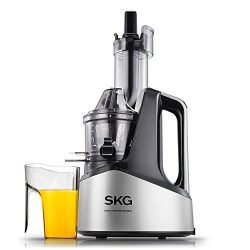 SKG Slow Masticating Juicer Extractor with Wide Chute (240W AC Motor, 43 RPMs, 3″ Big Mout ...