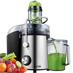 Juicer Aicok 1000W Powerful Juicer Machine Real 3'' Whole Fruit and Vegetable Feeder Chute Juice ...