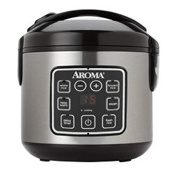 Aroma Housewares ARC-914SBD 2-8-Cups (Cooked) Digital Cool-Touch Rice Cooker and Food Steamer, S ...