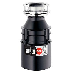 InSinkErator Badger 500 1/2 HP Continuous Feed Garbage Disposal w/Power Cord Accessory Kit