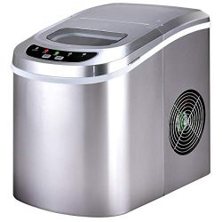 Costway Counter Top Ice Maker Machine Portable Compact Electric High Efficiency Express Ice Maki ...
