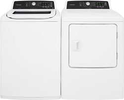 Frigidaire White Top Load Laundry Pair with FFTW4120SW 27″ Washer and FFRE4120SW 27″ ...