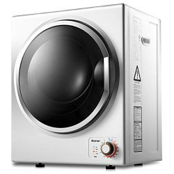 Costway Tumble Dryer Electric Compact Stainless Steel Clothes Laundry Dryer (1.5 Cu.Ft)