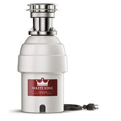 Waste King Legend Series 1 HP Batch Feed Garbage Disposal with Power Cord – (9980TC)