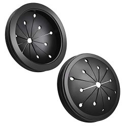 WXJ13 2 Pack Black Rubber 3-1/8 inch Garbage Disposal Splash Guard Sink Baffle for Kitchen or Ba ...