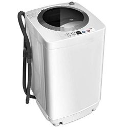 Giantex Portable Compact Full-Automatic Laundry 1.6 Cu. ft. Washing Machine Washer/Spinner W/Dra ...