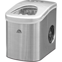 Igloo Counter Top Ice Maker, Produces 26 pounds Ice per Day, Stainless Steel with White See-thro ...