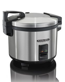 Proctor Silex Commercial 37560R Rice Cooker/Warmer, 60 Cups Cooked Rice, Non-Stick Pot, Hinged L ...
