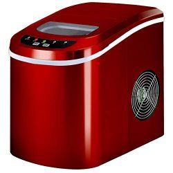 Costzon Portable Ice Maker, Compact Countertop Travel Home Ice Machine Makes Up Mini Cube 26lb/D ...