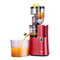 SKG Wide Chute Slow Masticating Juicer Extractor,Cold Press Juicer Machine for High Nutrient Fru ...