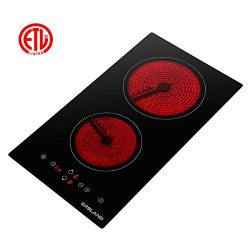 Electric Cooktop, Gasland chef Built-in Electric Stove, Vitro Ceramic Surface Radiant Electric C ...