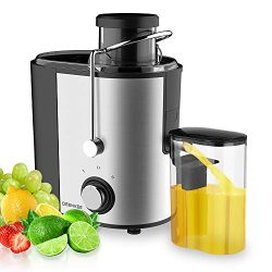 DEENKEE Compact Juice Extractor Fruit and Vegetable Juice Machine Wide Mouth Centrifugal Juicer, ...