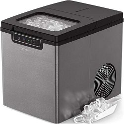 Vremi Countertop Ice Maker – Ice Cubes Ready in 9 Mins – Makes 26 lbs Ice in 24 hrs  ...