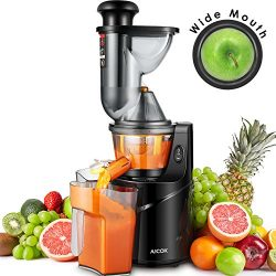 "Juicer Masticating Slow Juicer, Aicok 3"" Whole Juicer Chute for Fruits and Vegetables, Qui ..."