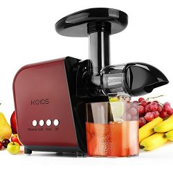 KOIOS Juicer, Slow Masticating Juicer Extractor with Reverse Function, Cold Press Juicer Machine ...