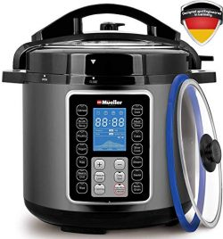Mueller UltraPot 10-in-1 Pro Series 6Q Pressure Cooker with German ThermaV Tech, Cook 2 Dishes a ...