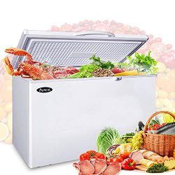 Commercial Top Chest Freezer – Atosa 9.6 Cu. Ft Deep Ice Cream Freezer with Adjustable The ...