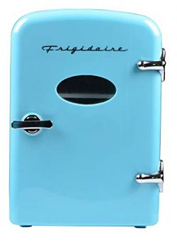 Frigidaire Retro Mini Compact Beverage Refrigerator, Great for keeping office lunch cool! (Blue, ...