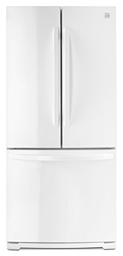 Kenmore 73002 19.5 cu. ft. Wide French Door Bottom Freezer Refrigerator in White -Works with Ale ...