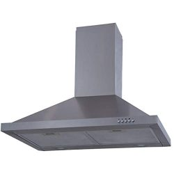 Costway 30″ Wall Mount Stainless Steel Push Control Kitchen Range Hood Vent Fan with Led L ...