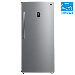 Whynter UDF-139SS 13.8 cu.ft. Energy Star Digital Upright Convertible Deep Stainless Steel Freez ...