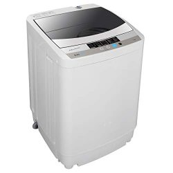 ZENSTYLE Full-Automatic Mini Multifunctional Washing Machine Portable Compact Design 10 LB Top L ...