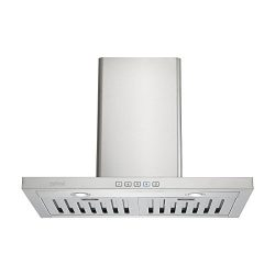 Zuhne Taurus 30 inch Kitchen Wall Mount Ducted/Ductless Range Hood With Chimney Extension for 8. ...